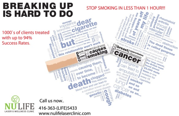 Laser STOP SMOKING program (woodbridge,richmond hill, vaughn areas)